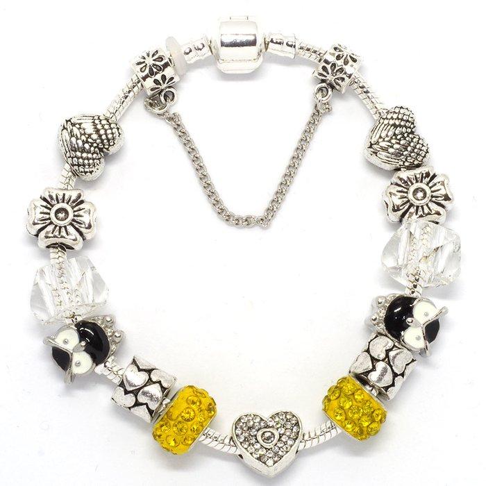 bracelet pandora jaune