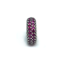 Espaceur strass rose - Argent 925